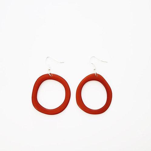 Loop Earrings - Red