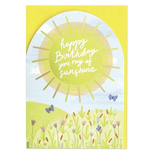 Ray of Sunshine Birthday Card