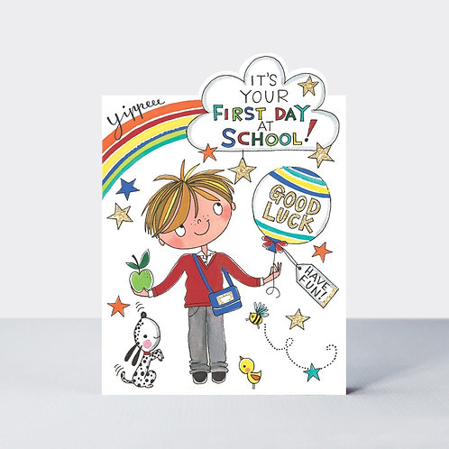 First Day at School Card