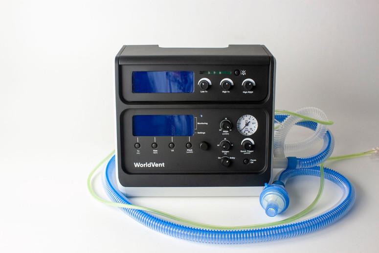 Front view of World Ventilator Foundation ventilator