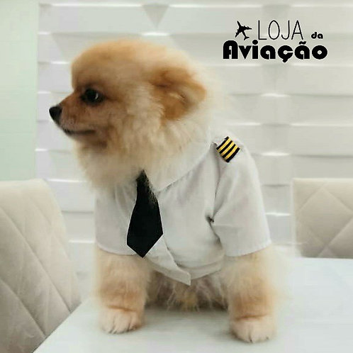 Roupa de cachorro piloto
