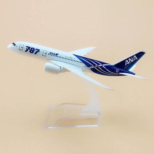 Avião miniatura de ferro Boeing B787