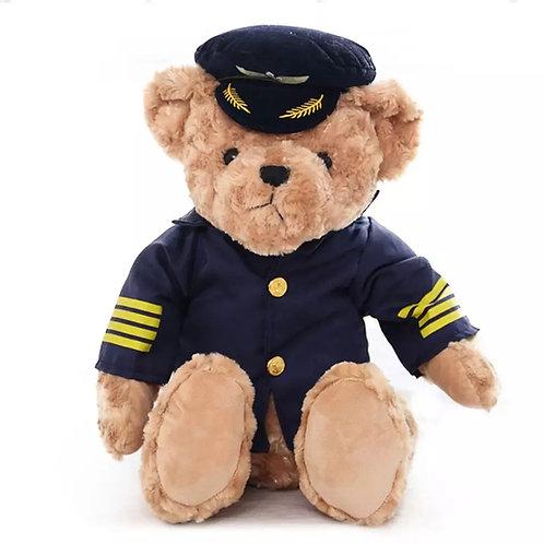 Urso de pelúcia Piloto