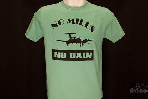 Camiseta No miles No gain  king air- Loja da Aviação