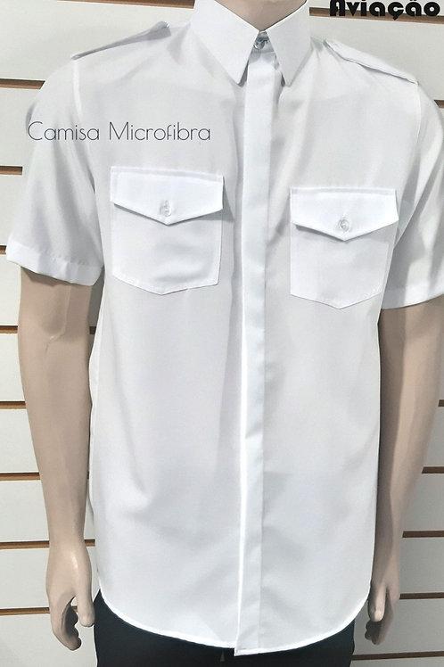 Camisa Piloto manga longa Elastano masculina