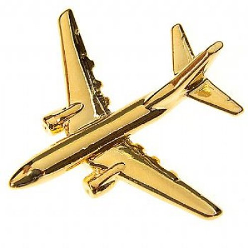 Pin Boeing 737-600 avião folheado ouro