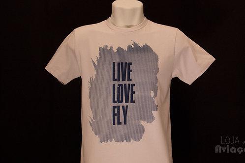 Camiseta Live LOve Fly - Loja da Aviação