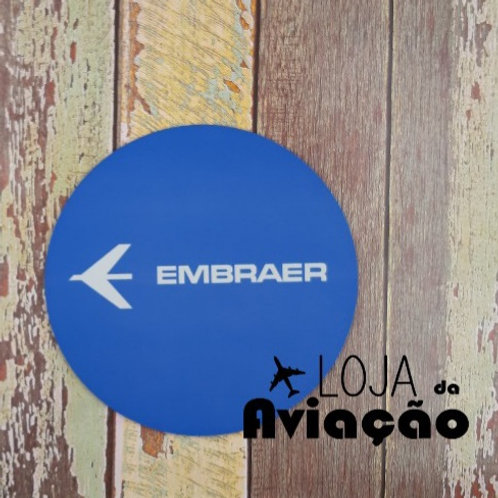Mouse pad Embraer Azul