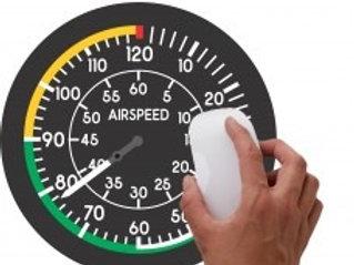 Mouse pad Instrumentos Airspeed Velocímetro