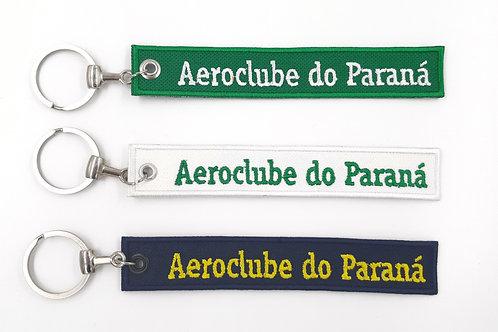 Chaveiro bordado Aeroclube do Paraná