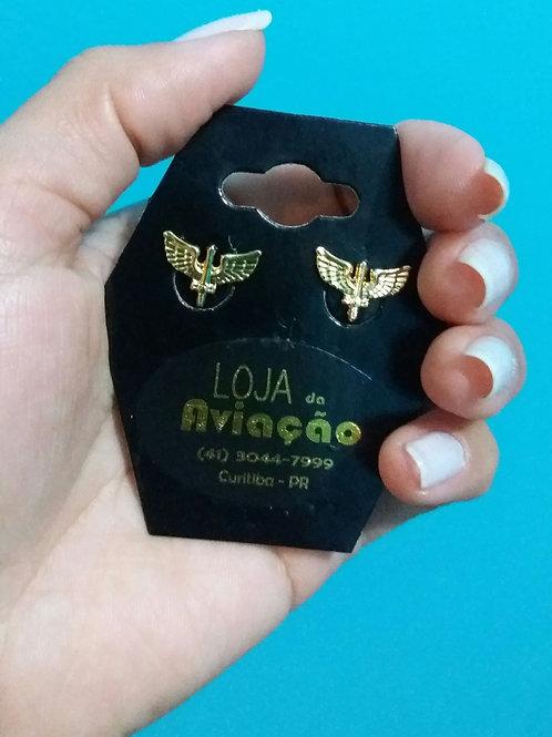 Brinco Força Aérea Brasileira FAB folheado ouro