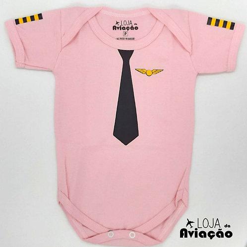 Body infantil rosa Piloto