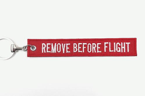 Chaveiro bordado Remove Before Flight