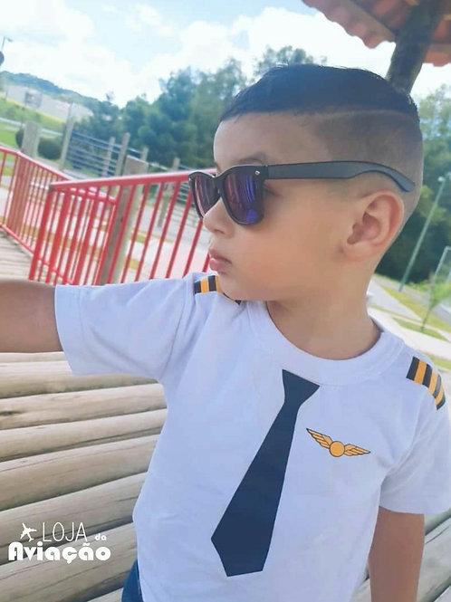 Camiseta infantil piloto pilotinho