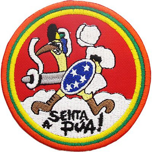 Patch bordado termocolante Senta a pua