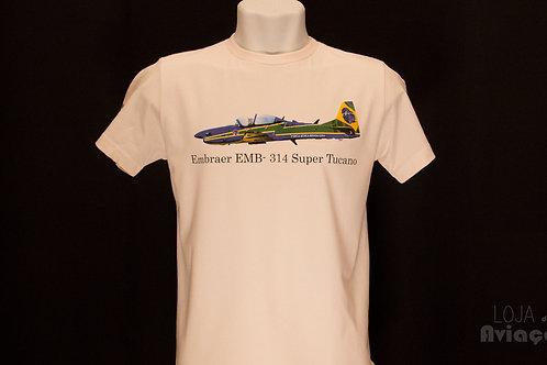 Camiseta Avião Super Tucano Embraer EMB-314 - Loja da Aviação