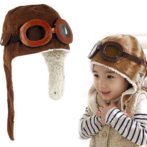 Touca aviador piloto infantil
