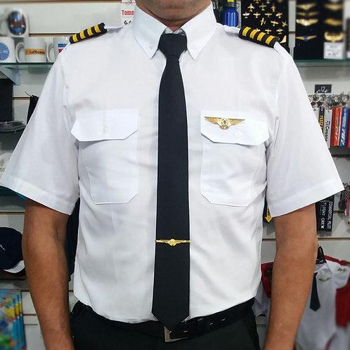 Camisa uniforme Piloto Autotex manga curta masculino