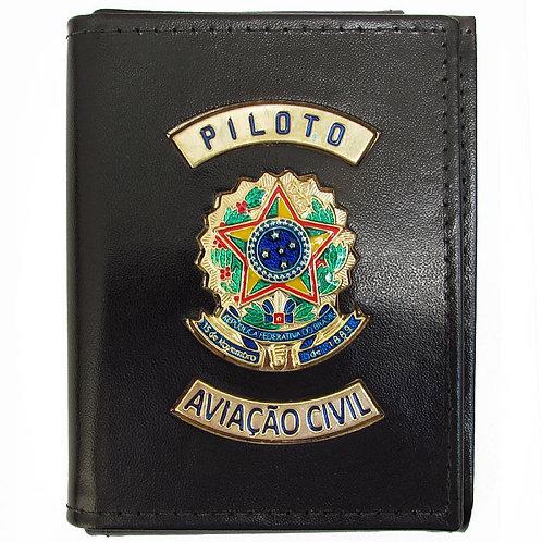 Carteira De Piloto Aviação Civil de couro