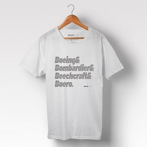Camiseta masculina Boeing Bombardier Beechcraft Boero
