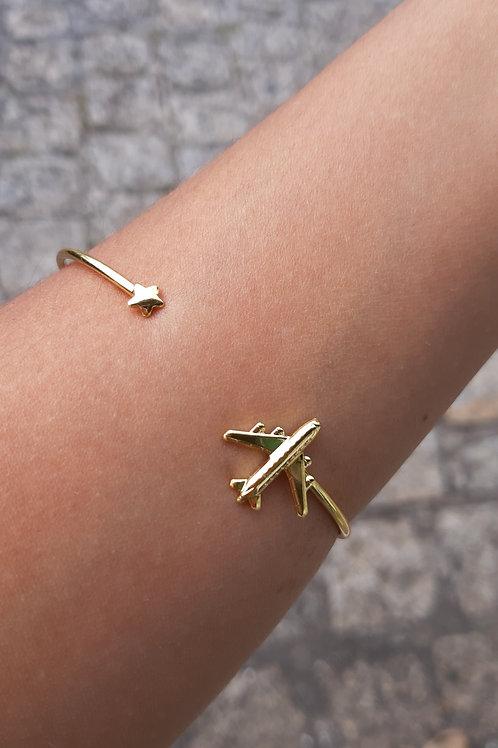 Bracelete de avião - Folheado a ouro