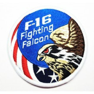 Patch bordado termocolante F16 Fighting Falcon