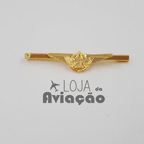 Prendedor de gravata - Mini brevê - folheado a ouro