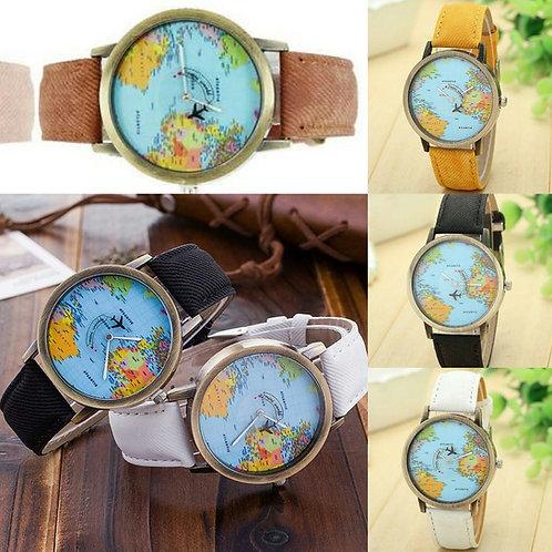 Relógio Avião mapa