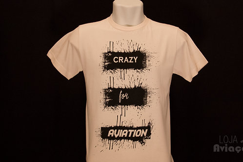 Camiseta Crazy for Aviation