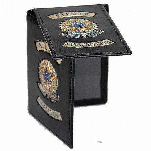 Carteira Porta documentos Piloto de couro