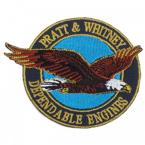 Patch bordado termocolante Pratt and Whitney