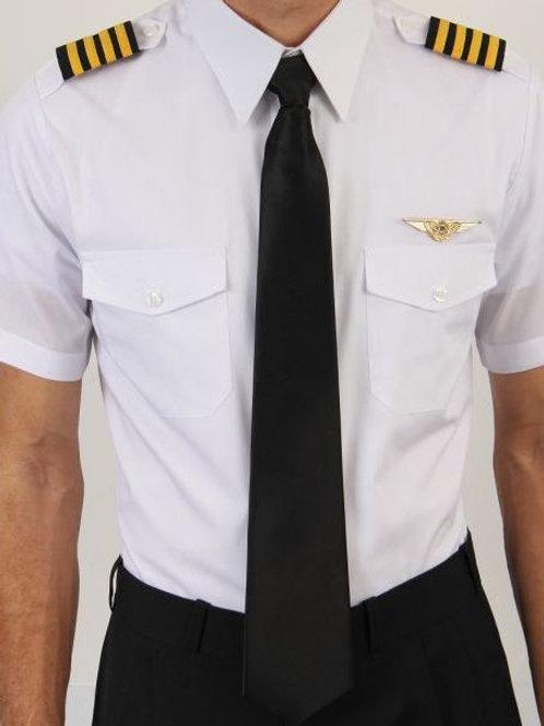 Camisa uniforme Piloto Loja da Aviação manga curta