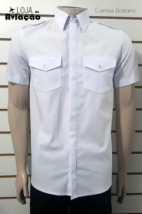 Camisa Piloto manga curta Elastano