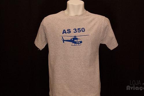 Camiseta Helicóptero Esquilo AS350 Aviação