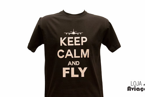 Camiseta keep calm and fly