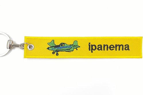 Chaveiro bordado Aviação Agrícola Ipanema