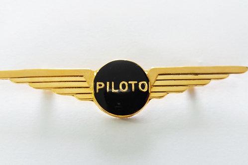 Brevê Piloto fundo preto folheado ouro
