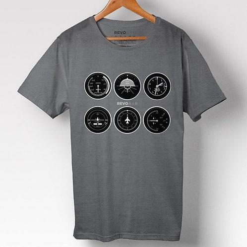 Camiseta Instrumentos aviação