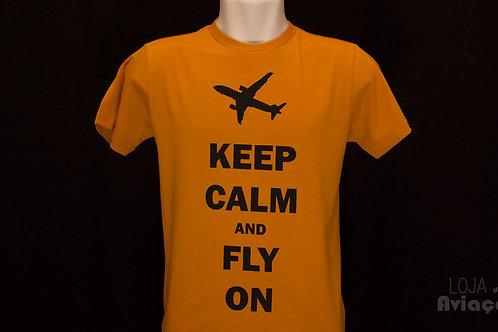Camiseta Keep calm and fly on