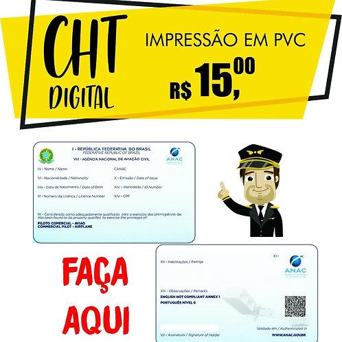 Impressão CHT em cartão pvc