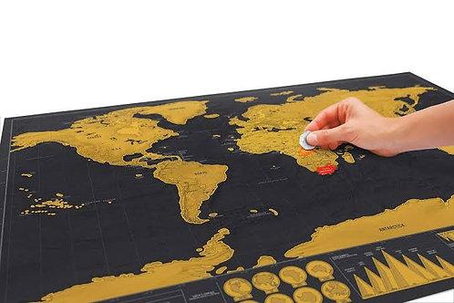 Mapa Mundi de raspar - Poster