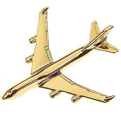 PIN BOEING 747-400 PRATEADO