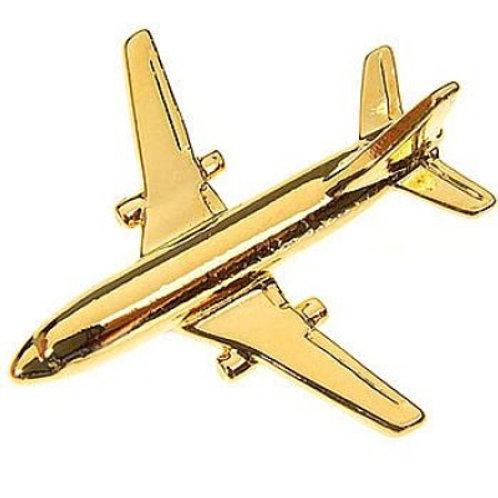Pin Boeing 767-200 avião folheado ouro
