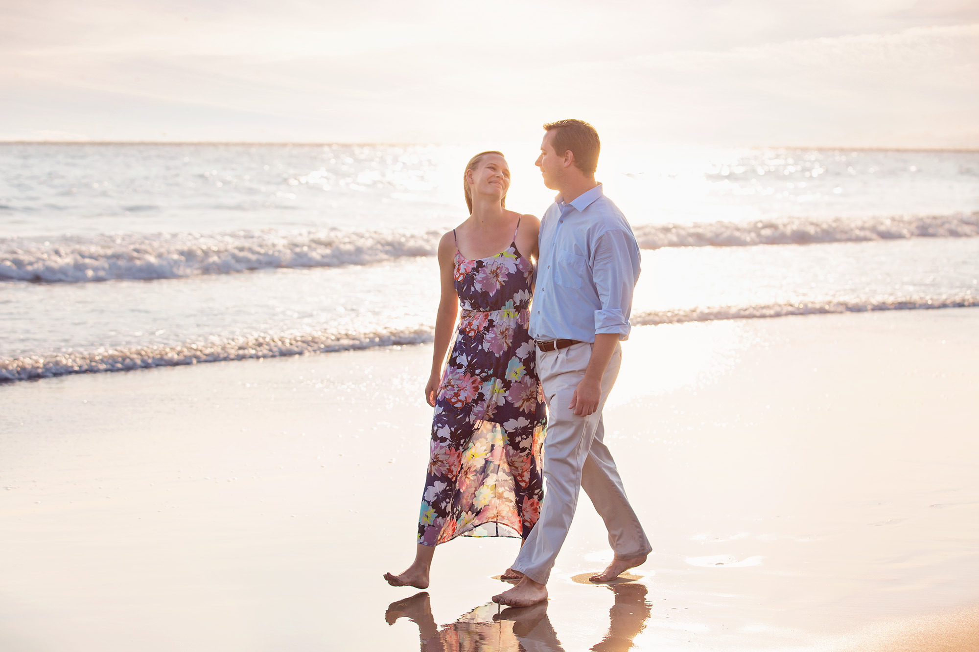 engagement session beach CA