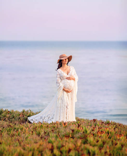 beach maternity session Bay Area