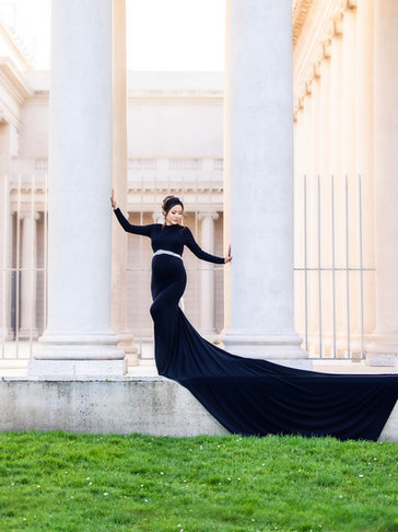 Black Turtle Neck Gown