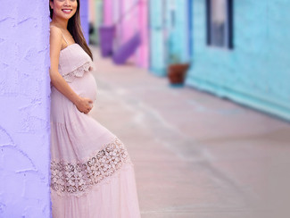 Colorful and Happy Maternity Portraits in Capitola California