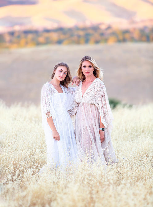 Mother and daughter pictures