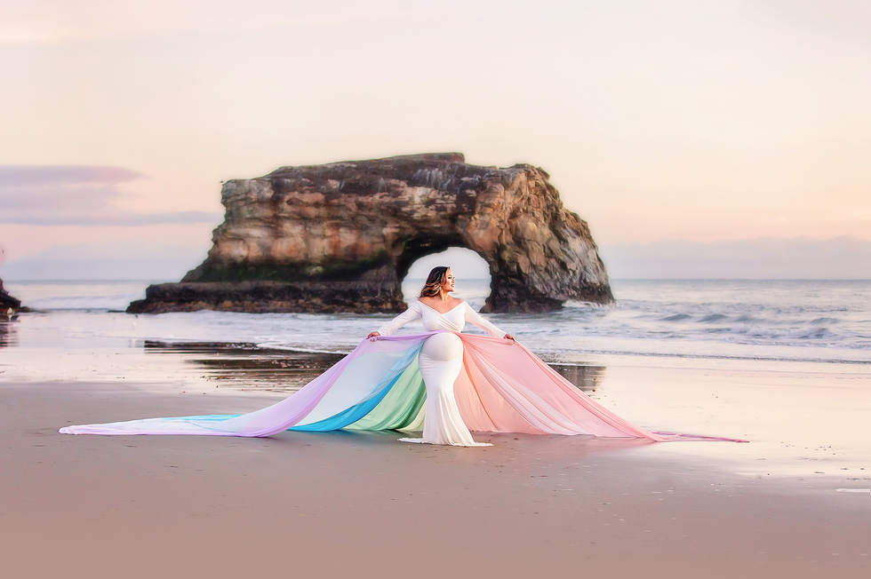 Maternity rainbow baby photos