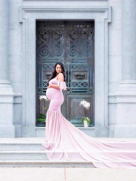 Mauve Angela Gown